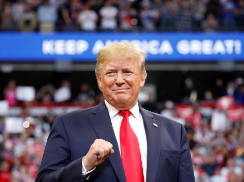Donald Trump, presidente de los Estados Unidos, durante un mitin electoral para las presidenciales de 2020