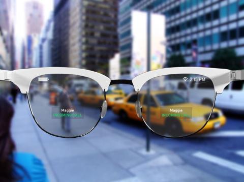 Un ejemplo de cómo podrían ser las gafas inteligentes.