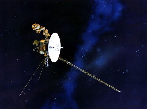 Ilustración de la sonda Voyager