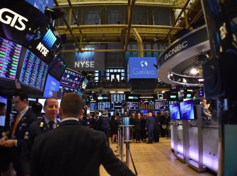 Pasillos dentro de Wall Street.