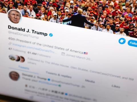 President Donald Trump's Twitter feed.