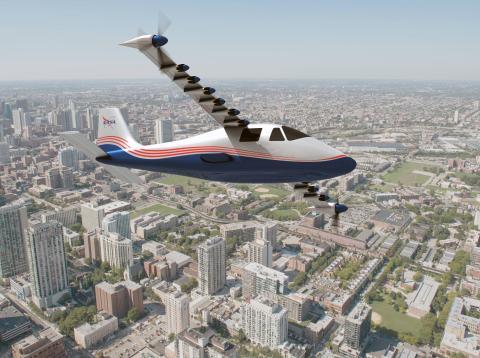 Primer avión eléctrico de la NASA.