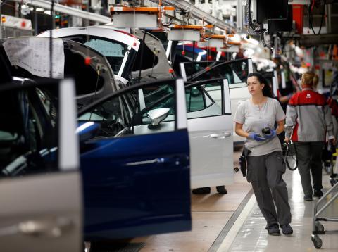 Una cadena de montaje de vehículos de Seat en Martorell