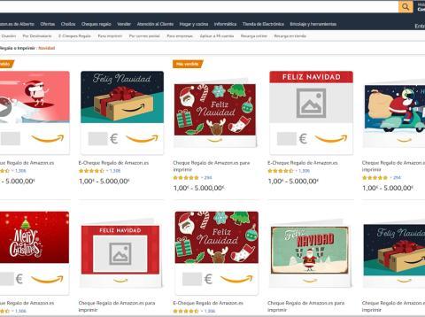 Amazon Cheques regalo Navidad