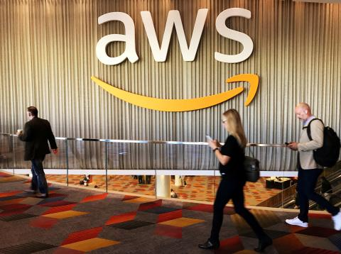 Un evento de Amazon Web Services en Las Vegas, Estados Unidos