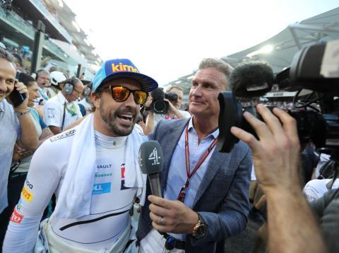 Fernando Alonso en el gran premio de Abu Dhabi
