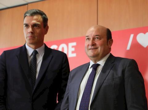 Pedro Sánchez y Andoni Ortúzar en una imagen de archivo.