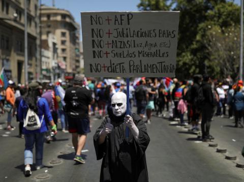 Protestas Chile Jubilación.