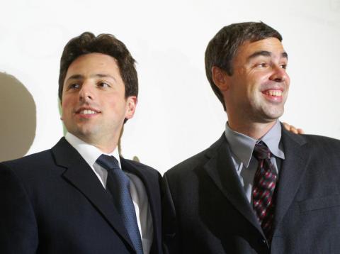 Sergey Brin, izquierda, y Larry Page.