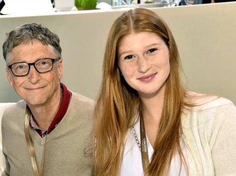 Bill Gates, junto a su hija