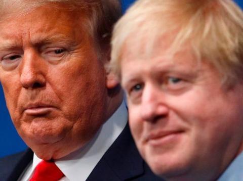 Boris Johnson, primer ministro de Reino Unido, y Donald Trump, presidente de EEUU