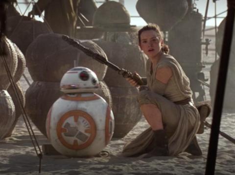 """¿Reconociste al equipo de Rey al final de la película? Todo sobre """"Star Wars: La Fuerza Despierta""""."""