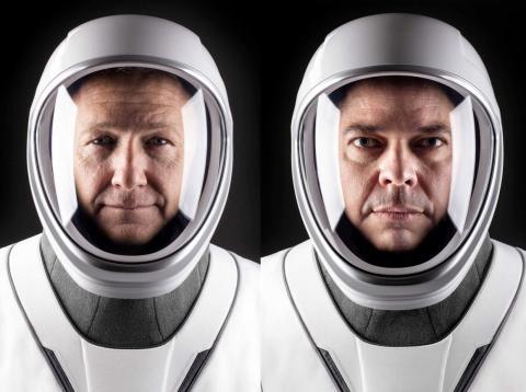 Los astronautas de la NASA Doug Hurley (izquierda) y Bob Behnken (derecha), serán los primeros en salir al espacio con SpaceX.