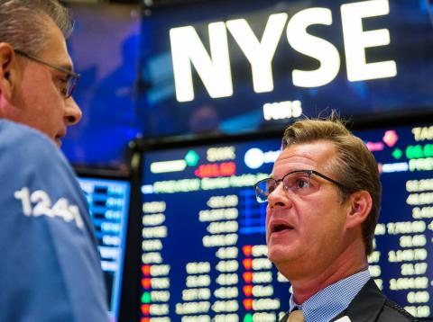 Traders en Wall Street