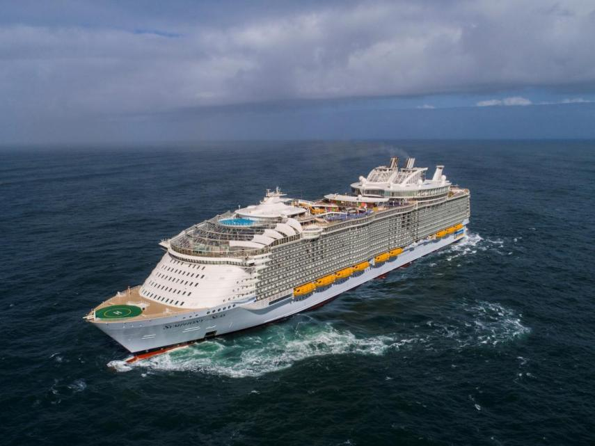 Symphony of the Seas began its first trip at the end of March and will remain in Europe for the spring and summer, before coming to the US in November.