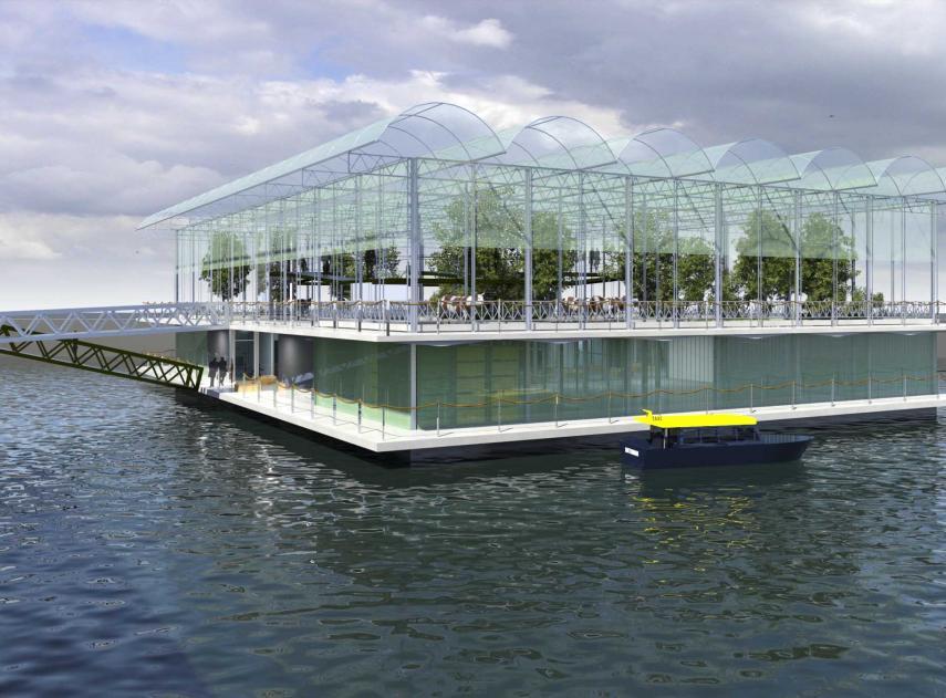La primera granja flotante del mundo muestra el futuro de la alimentación sostenible en las ciudades