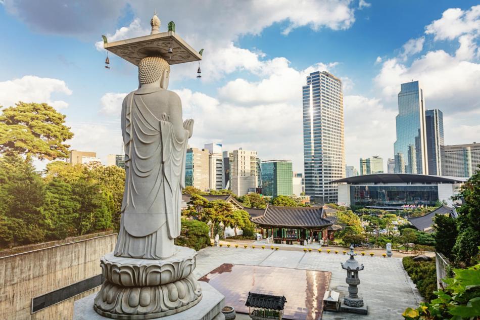 Templo Bongeunsa en Séul. Corea.