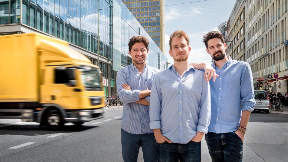 Los fundadores de Trucksters, Luis Bardají, Gabor Balogh y Ramón Castro