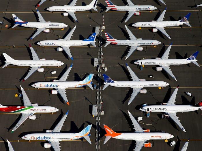 Aviones en tierra en Seattle