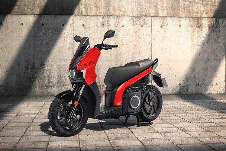 Una moto de la marca de motosharing Seat MÓ.