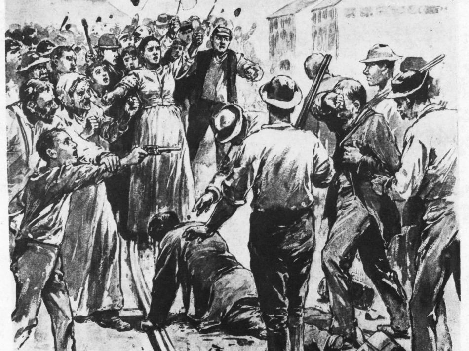 The Homestead Mill Strike of 1892 in Homestead, Pennsylvania.