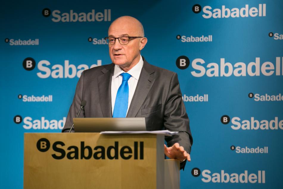 El presidente del Banc Sabadell, Josep Oliu.