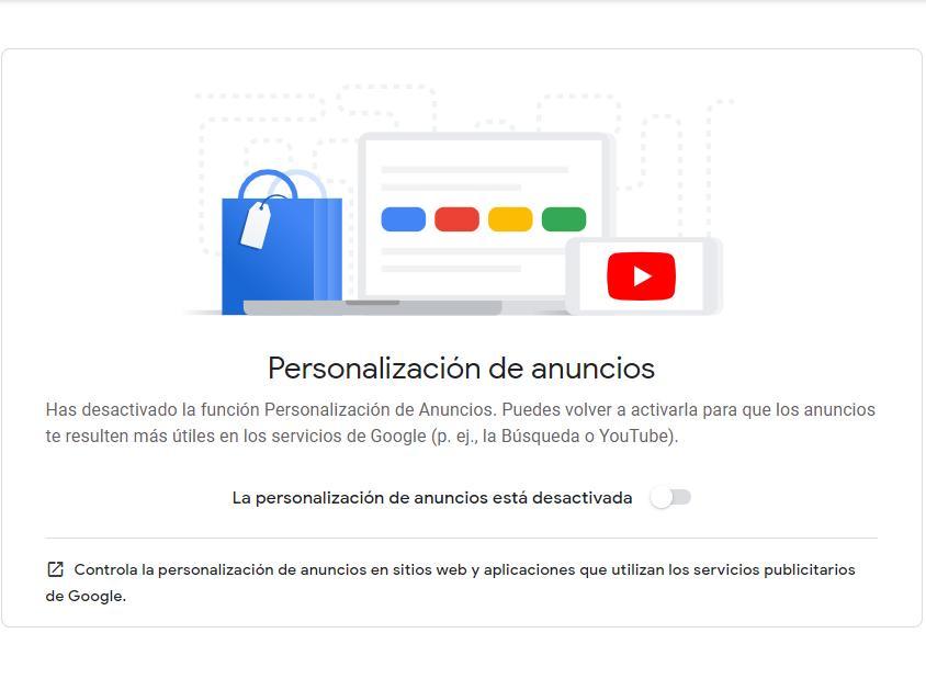 Personalización anuncios google