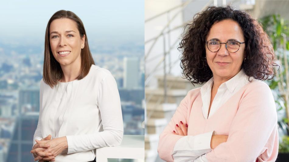 Susana Zumel (i), directora de Sistemas de Información en CEPSA; y Joana Frontela (d), directora del Centro de Investigación de CEPSA.