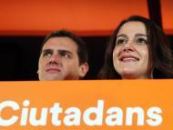 Inés Arrimadas y Albert Rivera, de Ciudadanos, tras las elecciones del 21D en Cataluña