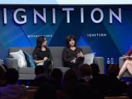 Jodi Kantor, Kim Masters, Irin Carmon y Alyson Shontell en IGNITION