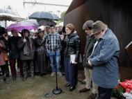 Acto conmemorativo de los asesinatos de Fernando Mugica y Joseba Pagazaurtundua en Andoain
