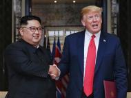 Kim Jong Un with Donald Trump.