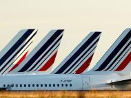 Colas aviones avión Air France aeropuerto