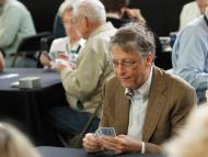 Former Microsoft chairman Bill Gates likes to play bridge.