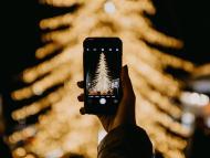Móvil navidad - fotografía árbol navideño