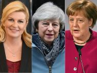 Kolinda Grabar-Kitarović, Theresa May y Angela Merkel