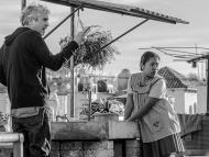 """Alfonso Cuarón on the set of """"Roma."""""""