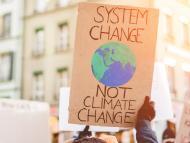 Una manifestación contra el cambio climático en Alemania