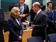 La ministra de Economía española, Nadia Calviño, y su homólogo alemán, Olaf Scholz