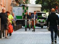 Patinetes eléctricos compartidos de Lime en Madrid.