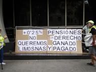 Una protesta por la subida de las pensiones ligada al IPC