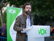 Iván Espinosa de los Monteros, en un acto de campaña de Vox.