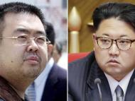 Kim Jong-nam (left) and North Korean leader Kim Jong Un.