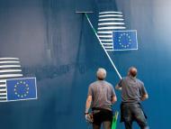 El logo de la Unión Europea.
