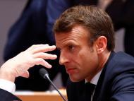 Macron en el Consejo Europeo.