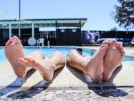 piscina, vacaciones, verano