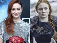 "Sophie Turner is Sansa Stark in ""Game of Thrones"" (right)."