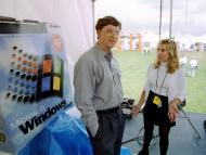 Bill Gates, en el lanzamiento de Windows 95.