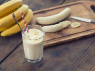 Batido de plátano, no lo mezcles con leche