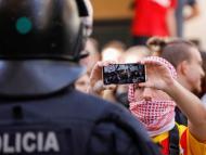 Manifestantes en Cataluña tras la sentencia del procés.